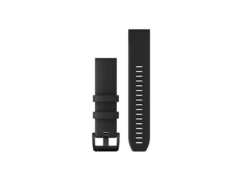 Řemínek QuickFit 22, silikonový, černý