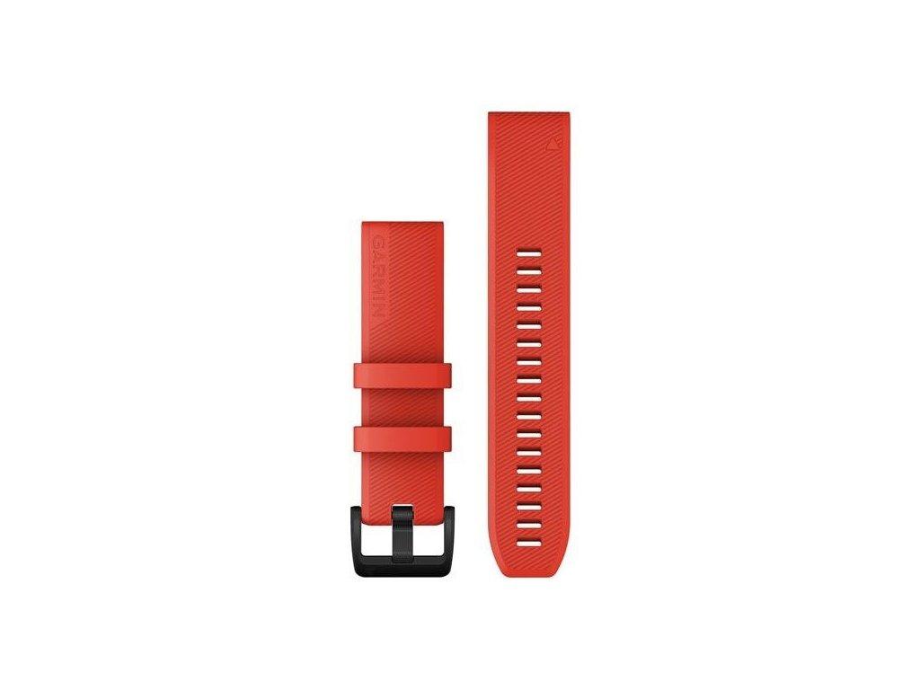 Řemínek QuickFit 22, silikonový, červený