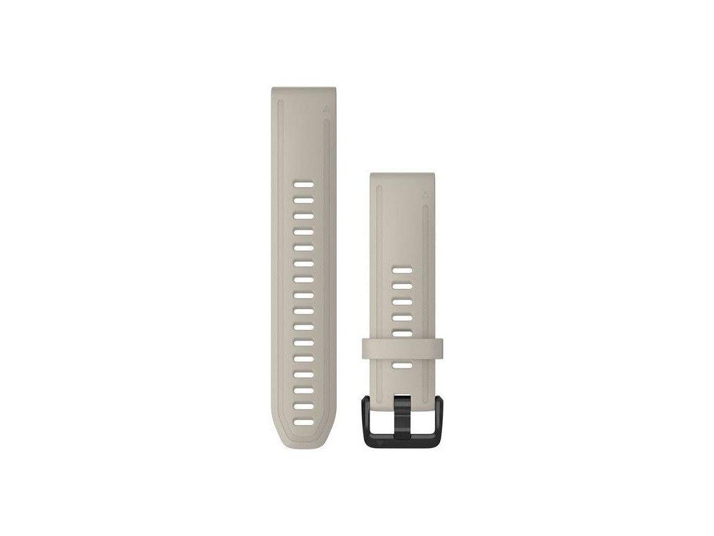 Řemínek QuickFit 20, silikonový, béžový, černá přezka