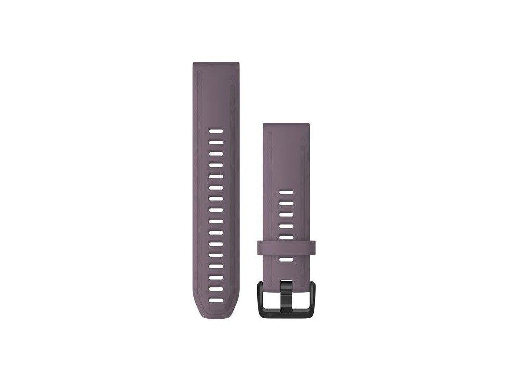 Řemínek QuickFit 20, silikonový, fialový, černá přezka