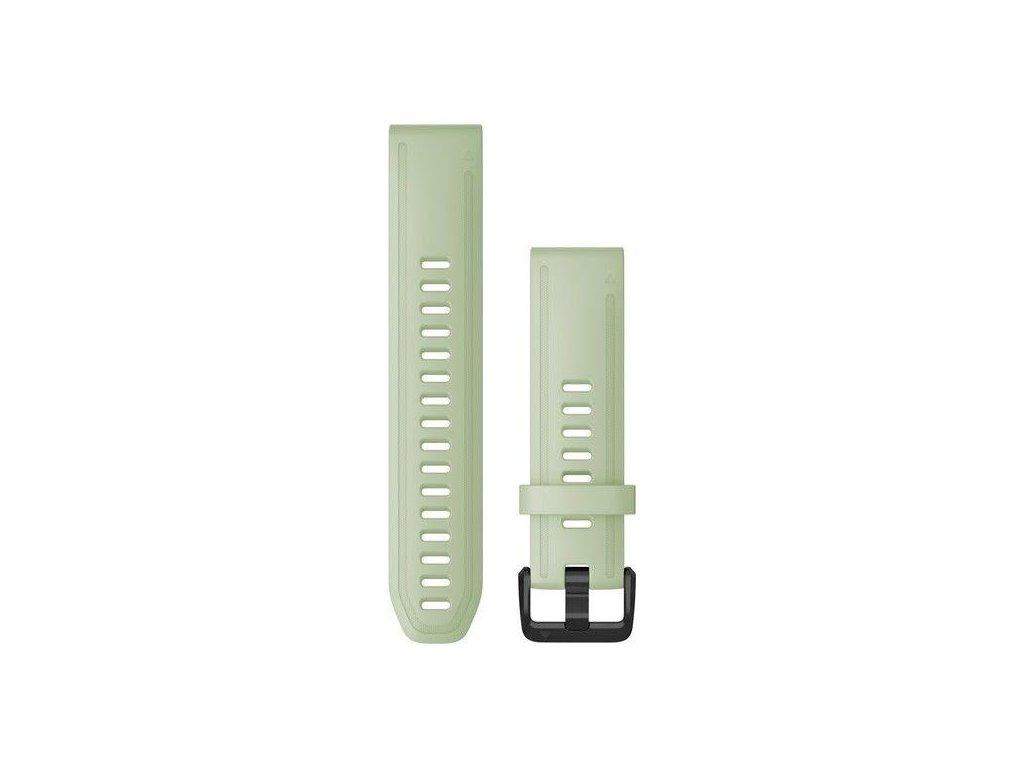 Řemínek QuickFit 20, silikonový, mentolový, černá přezka