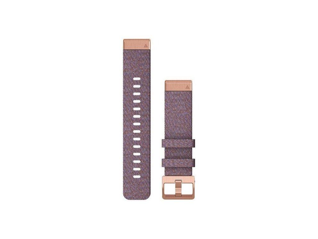 Řemínek QuickFit 20, nylonový, fialový, černá přezka