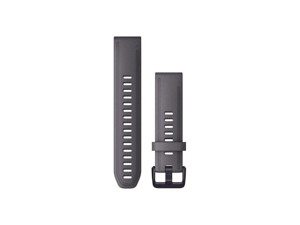 Řemínek QuickFit 20, silikonový, šedivý, černá přezka