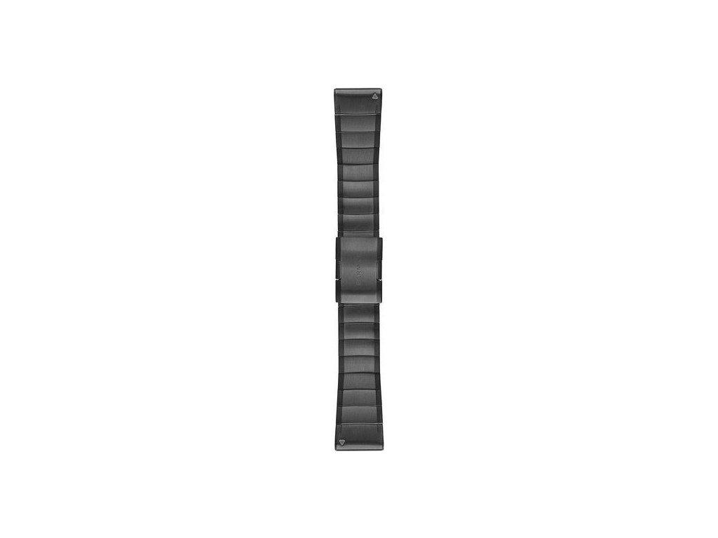 Řemínek pro fenix5X Plus - QuickFit 26, DLC titanový, tmavě šedý
