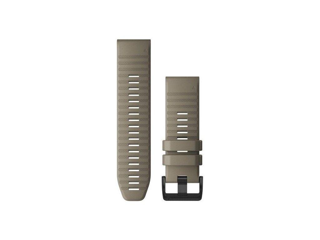 Řemínek pro fenix6X - QuickFit 26, silikonový, béžový, černá přezka