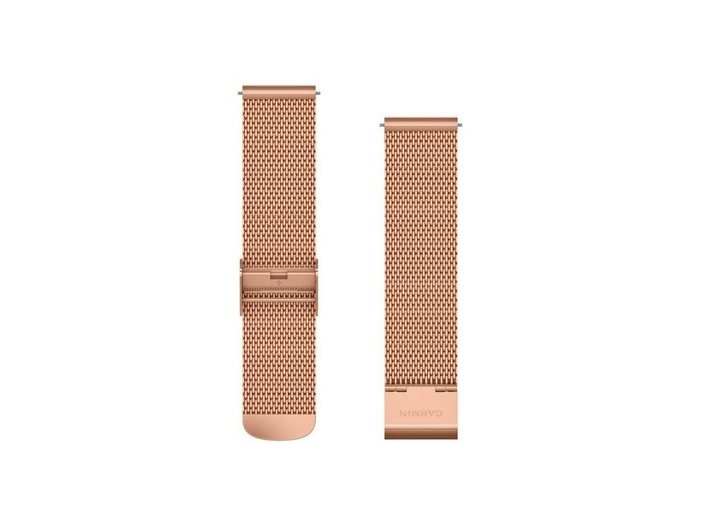 Řemínek Quick Release 20mm, kovový růžovozlatý, milánský tah