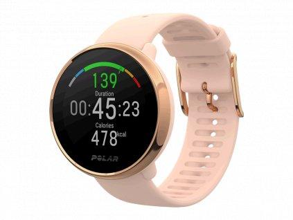 POLAR IGNITE - růžová-zlatá S  Produkt z CZ distribuce s ovládáním v ČJ + tvrzené sklo na displej ZDARMA