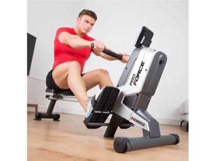 Veslařský trenažér HAMMER Rower Pro Force