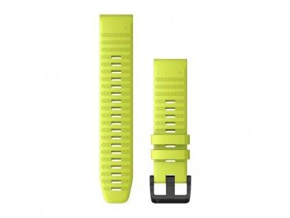 Řemínek pro fenix6 - QuickFit 22, silikonový, žlutý, černá přezka