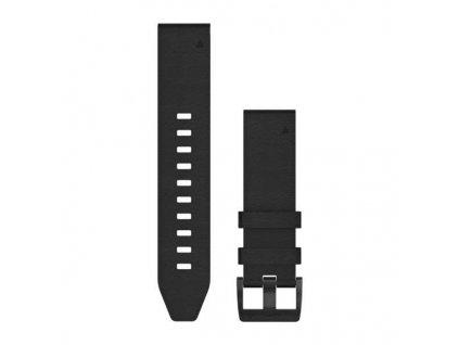 Řemínek QuickFit 22, kožený černý