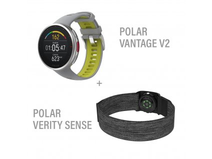 SET POLAR: VANTAGE V2, šedá + Verity Sense