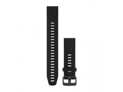Řemínek QuickFit 20, silikonový, dlouhý, černý