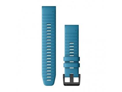 Řemínek pro Quatix6 - QuickFit 22, silikonový, světle modrý, černá přezka