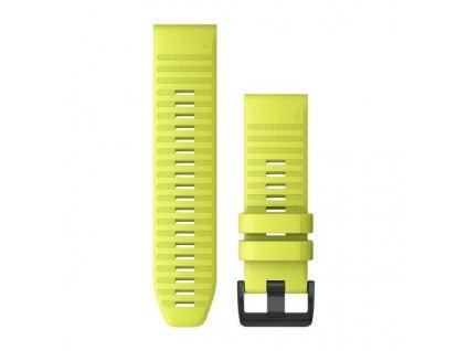 Řemínek pro fenix6X - QuickFit 26, silikonový, žlutý, černá přezka