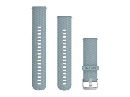 Řemínek Quick Release 20mm, silikonový šedomodrý, stříbrná přezka