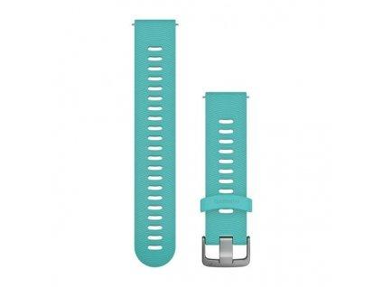 Řemínek Quick Release 20mm, silikonový modrý, sportovní, stříbrná přezka