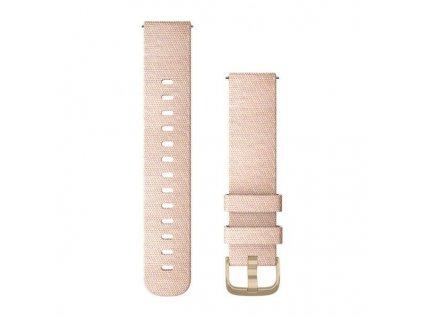 Řemínek Quick Release 20mm, nylonový růžový, zlatá přezka