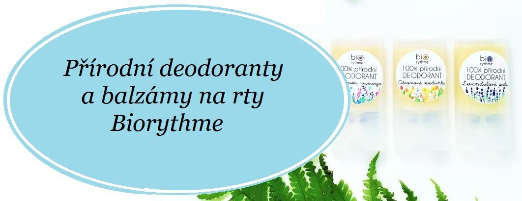 Přírodní deodoranty Biorythme