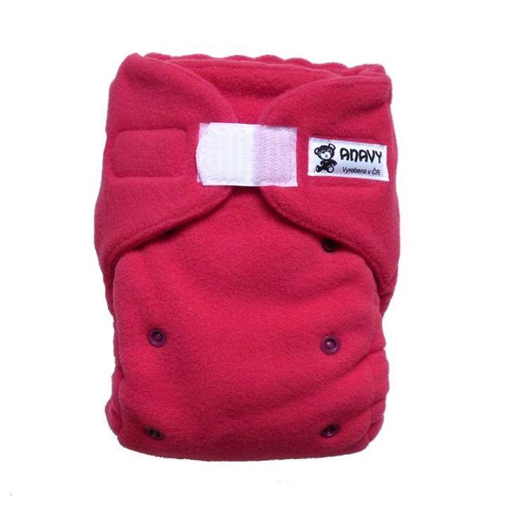 Jednovelikostní flísové svrchní kalhotky na suchý zip