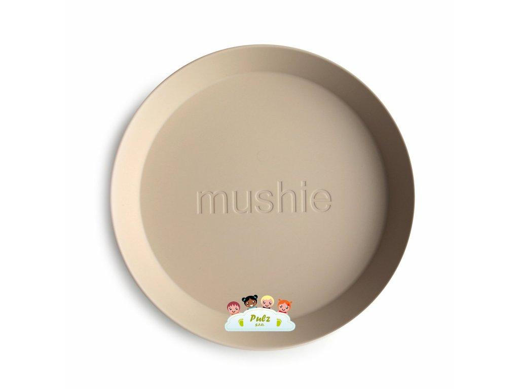 Mushie okruhly tanier 2ks vanilla