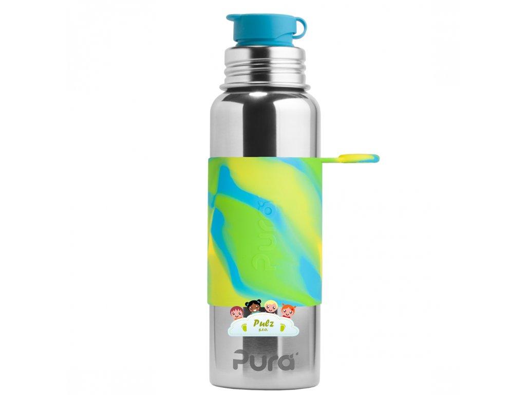 1 Pura nerezova flasa so sportovym uzaverom 850ml Zelena aqua