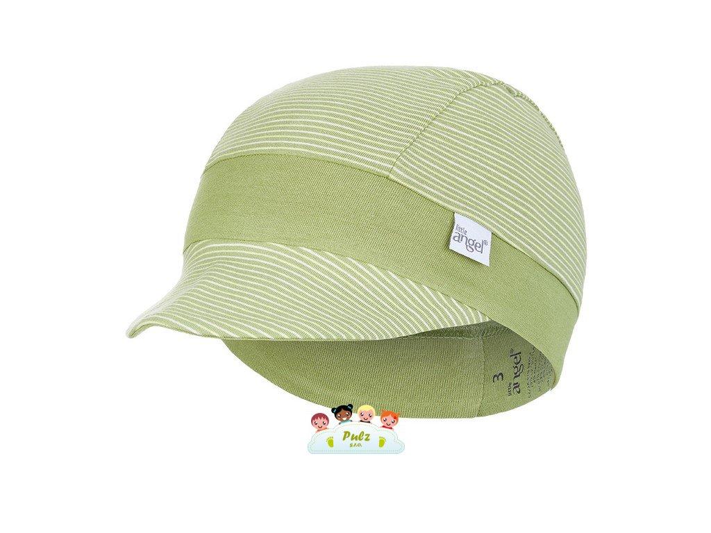 Kšiltovka tenká pruh Outlast® - pruh zelený matcha/zelená matcha (Velikost 2 | 39-41 cm)