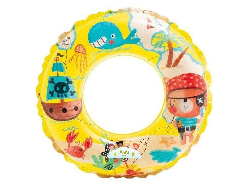 Kruh plavecký INTEX 59242 TRANSPARENT 61cm Žlutý - Pirát