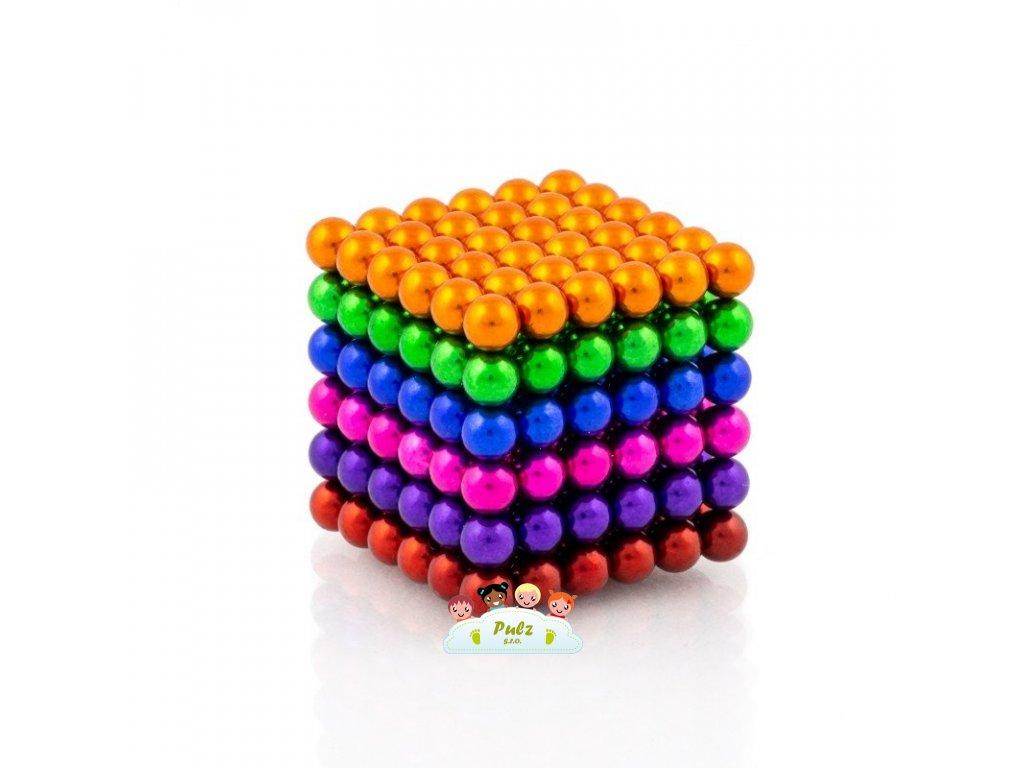 NeoCube mix 6 barev – magnetická stavebnice, 216 kuliček