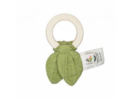 Tikiri Safari hryzatko z prirodnej gumy a bio bavlny zelena