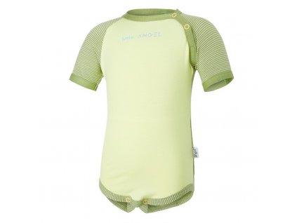 Body tenké KR LA Outlast® - zelená matcha/citronová (Velikost 74)