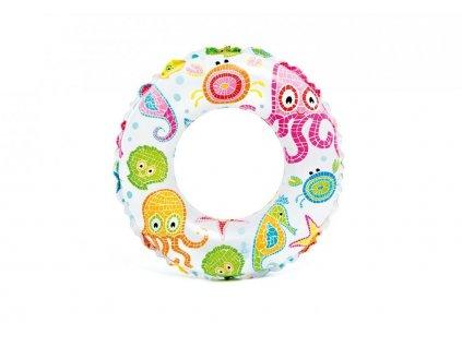 Kruh plavecký INTEX 59241 61cm MOŘSKÝ POTISK Chobotnice