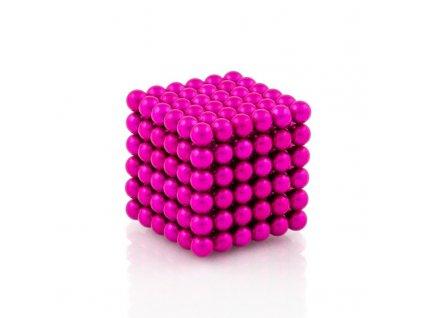 NeoCube růžový – magnetická stavebnice, 216 kuliček