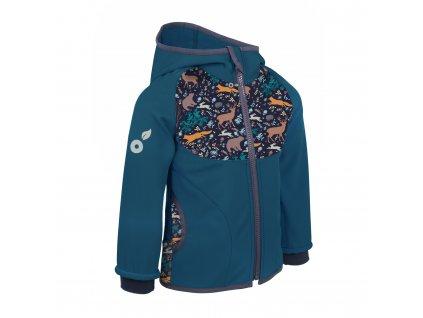 Unuo, Dětská softshellová bunda s fleecem - Velikost: 98/104 - Kobaltová, Noční zvířátka