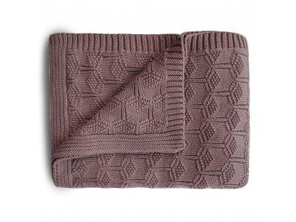 Mushie pletena detska deka z organickej bavlny vzorkovana Desert Rose