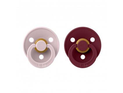 BIBS Colour cumliky z prirodneho kaucuku 2ks Pink Plum Elderberry