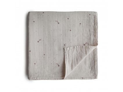 Mushie muselinova zavinovacka bio organicka bavlna FallingStars