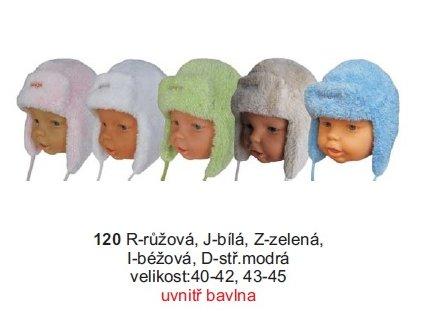 Sando 120 - Kojenecká zimní čepice ušanka 43-45  PULZ s.r.o.  6ebb410cbb