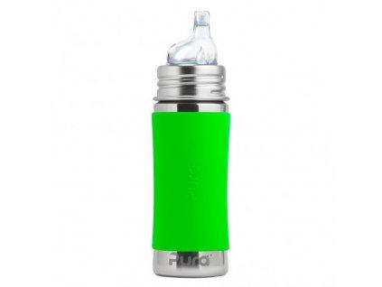 3 Pura nerezova flasa s naustkom 325ml Zelena 500x500