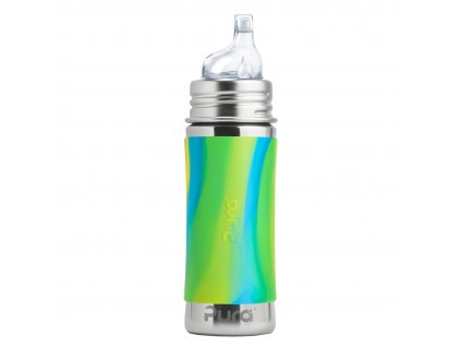 1 Pura nerezova flasa s naustkom 325ml Zelena aqua