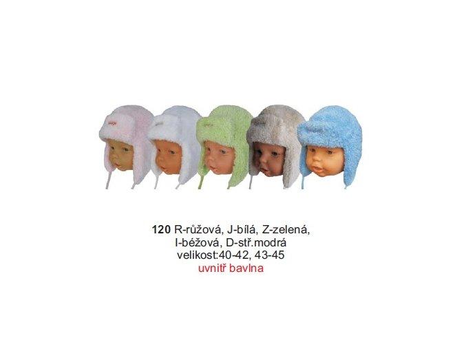 Sando 120 - Kojenecká zimní čepice ušanka 40-42