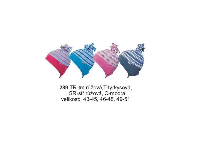 Sando 289 - Dětská bavlněná čepice tyrkysová 49-51