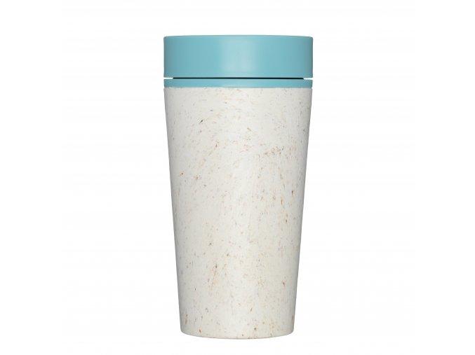 rcup opakovane pouzitelny kelimek na kavu z recyklovanych kelimku modra cream and teal zelenadomacnost