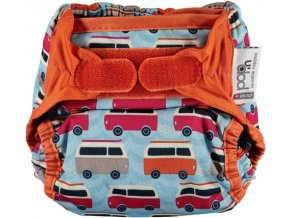 pop in v2 nappy campervan blue front