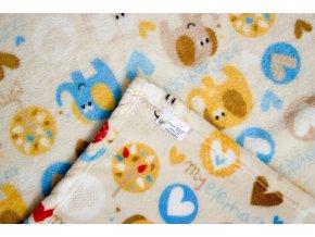 MAJAB Dětská deka Sloníci (Rozměr 100x70cm)