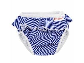 blue stripes frill