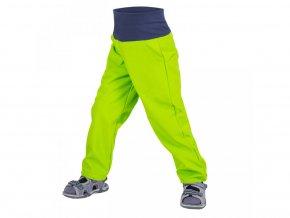 Unuo Batolecí softshellové kalhoty bez zateplení Limetkové, náplet v nohavičce: NE 80/86