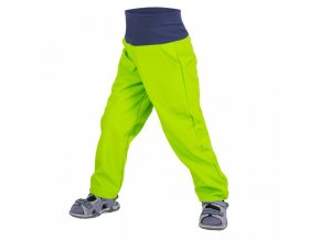 Unuo Batolecí softshellové kalhoty bez zateplení Limetkové, náplet v nohavičce: NE 74/80 - Lze koupit pouze jako dárek k objednávce nad 700,-Kč