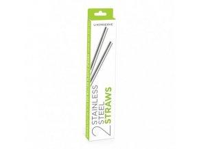 u konserve nerezova brcka opakovane pouzitelna stainless steel straws set of 2 zelenadomacnost