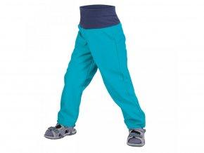 Unuo batolecí softshellové kalhoty bez zateplení, náplet v nohavičce: NE  Aqua 74-80