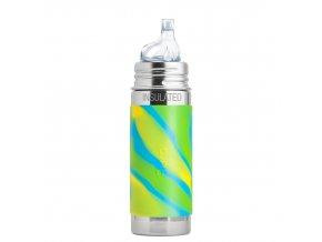 PURA nerezová termo láhev s náústkem 260 ml Zelená-Aqua